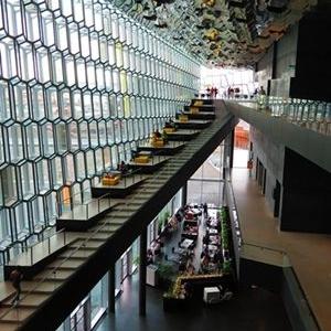 Restaurant in the Harpa Centre in Reykjavik