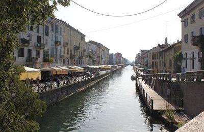 Canals (navigli) in Milan