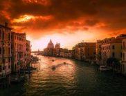 venice italy sunset